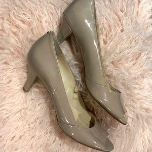 Calvin Klein Pump Heels PARISA Peep Toe Shoes 8.5M